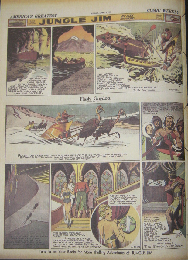 page couleur du comic weekly 1939